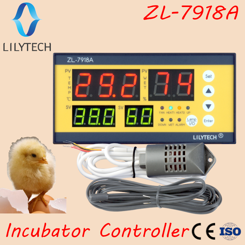xm-18, <font><b>ZL</b></font>-<font><b>7918A</b></font>, Egg Incubator Controller, Multifunction Automatic Temperature Humidity Control,100-240Vac,CE,ISO,Lilytech,xm 18 image