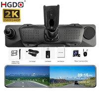 HGDO 12 4G Car DVR 2K Rearview Mirror Android 8.1 GPS Auto Registrar WiFi 2+32G FHD 1080P Dash Camera Driving Video Recorder