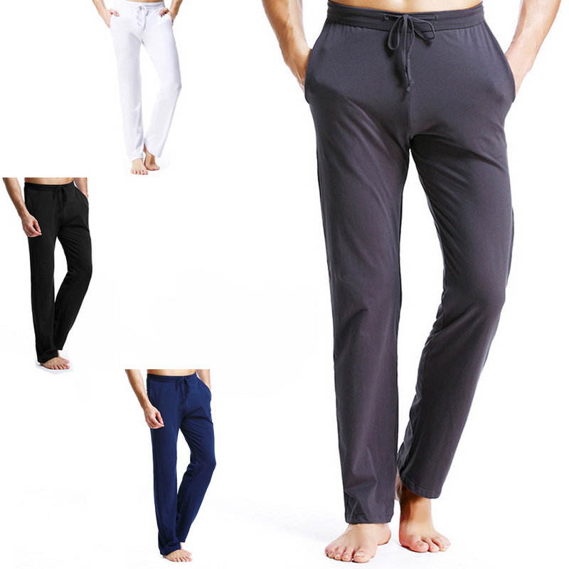 Litthing Pajamas Pants Men Comfortable Long Sleep Bottoms Cotton Underwear Sleepwear Pyjama Breathable Sleep Trousers Homewear