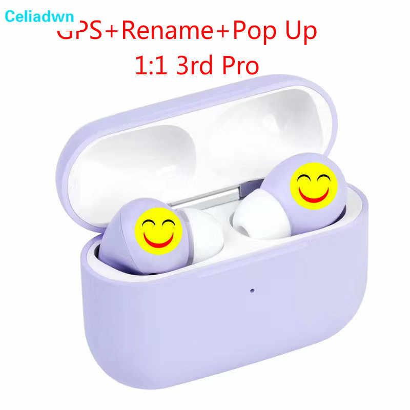1:1 3rd Pro auriculares inalámbricos A3 Pro TWS auriculares bluetooth Pop Up auriculares GPS cambiar el nombre de los auriculares PK i100 i17 i30 i18 i16 tws