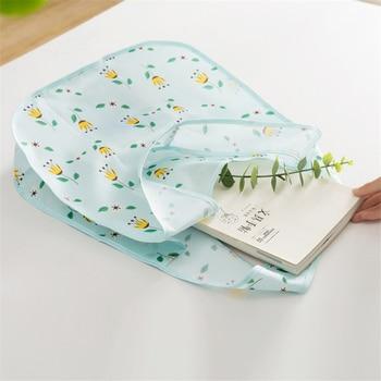 PURDORED 1 Pc Flower Shopping Bag Fordable Women Shopping Tote Bag Portable Waterproof Reusable Cloth Eco Grocery Bag Handbags 4