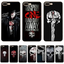 Mobile Phone Case Para iPhone 5 5S SE 6 6S 7 8 Plus X XR XS Max Capa Dura punisher(China)