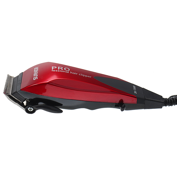 Surker vermelho profissional máquina de cortar cabelo