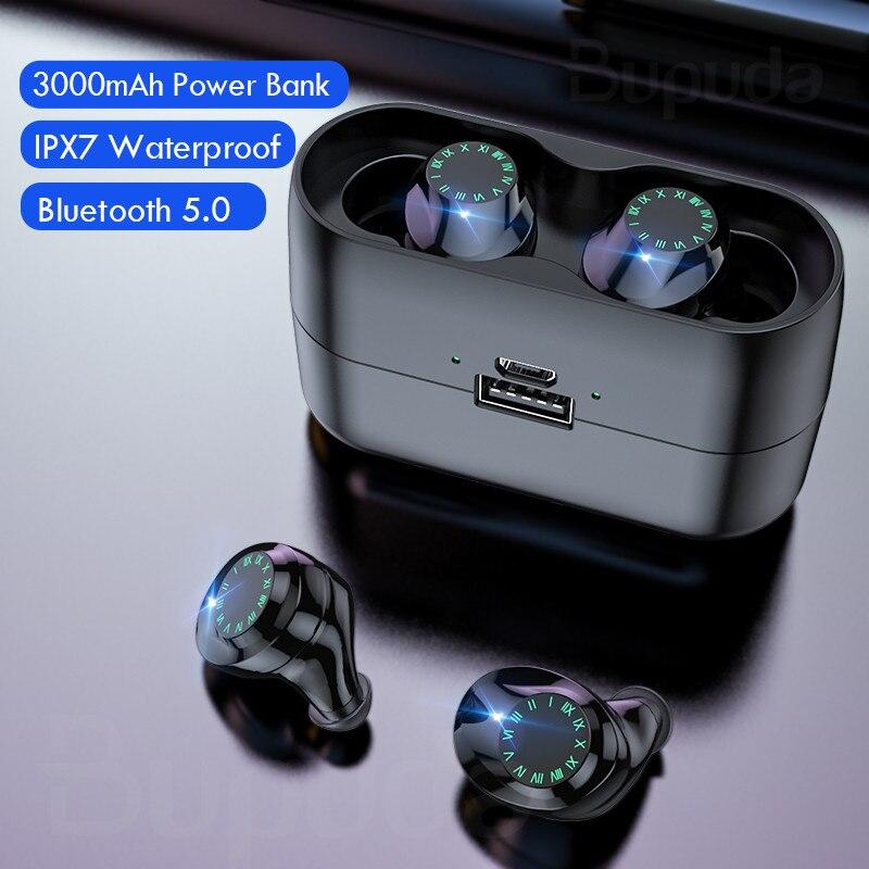 Auriculares inalámbricos IPX7 a prueba de agua Control táctil 8D TWS Bluetooth 5,0 auriculares estéreo auriculares deportivos auriculares con micrófono