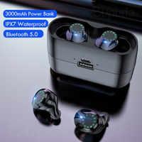 Casque sans fil IPX7 étanche contrôle tactile 8D TWS Bluetooth 5.0 stéréo écouteurs sport écouteurs casques avec Microphone