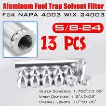 13 шт. 5/8-24 10 дюймов Алюминиевый автомобильный топливная ловушка растворитель фильтр для Napa 4003 Wix 24003