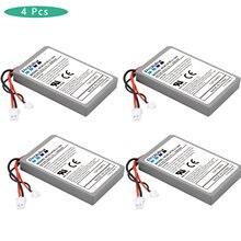 Para sony ps4 ps4 pro magro lip1522 dualshock 4 v1 v2 controlador sem fio playstation gamepad 4x2000mah bateria recarregável