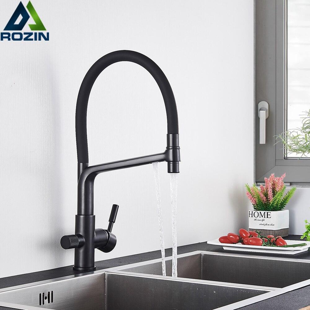 Black Water Filter Taps Mixer Kitchen Taps Kitchen Faucet Mixer Sink Faucets Kitchen Mixer Filter Tap Water Purifier Tap