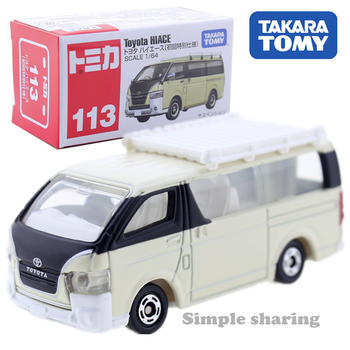 Takara Tomy Tomica 113 Toyota Hiace First Edition 1/64 Car Pop Kids Toys Motor Vehicle Diecast Metal Model image