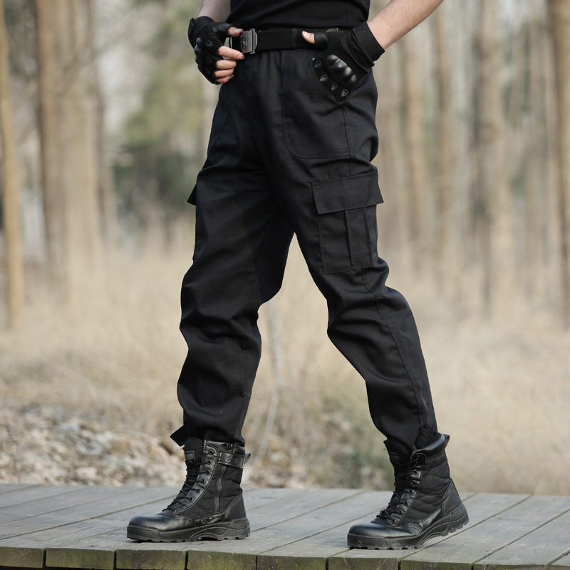 New Black Training Tactical Trousers Women Outdoor Quick-Drying Windproof Wear-Resistant Swat Pants Hiking Fattening Mens Pants
