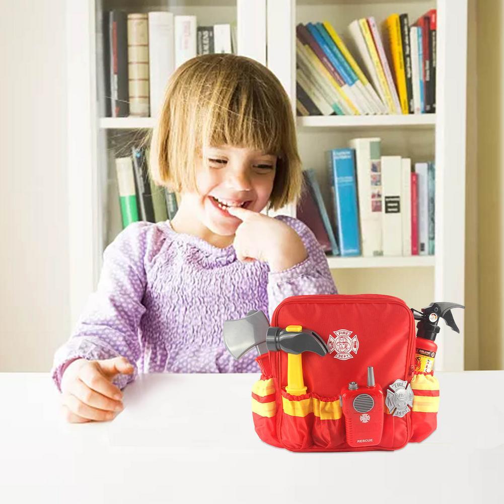 criancas brinquedo bombeiro roupas bombeiro colete capacete 04