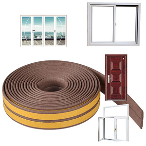 Image 4 - 10M/roll Self Adhesive door seal strip Rubber Weather Strip Windproof Soundproof window sealing tape  hardware accessories