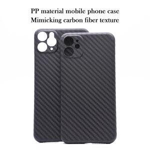 Image 1 - Funda de teléfono móvil de material PP para iPhone 11 Pro max, protección de lente con textura de fibra de carbono X XS Max XR
