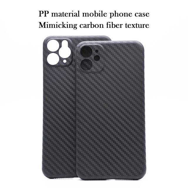 วัสดุPPโทรศัพท์มือถือสำหรับIPhone11 Pro Max All Inclusive X XS Max XRคาร์บอนไฟเบอร์เลนส์ป้องกัน