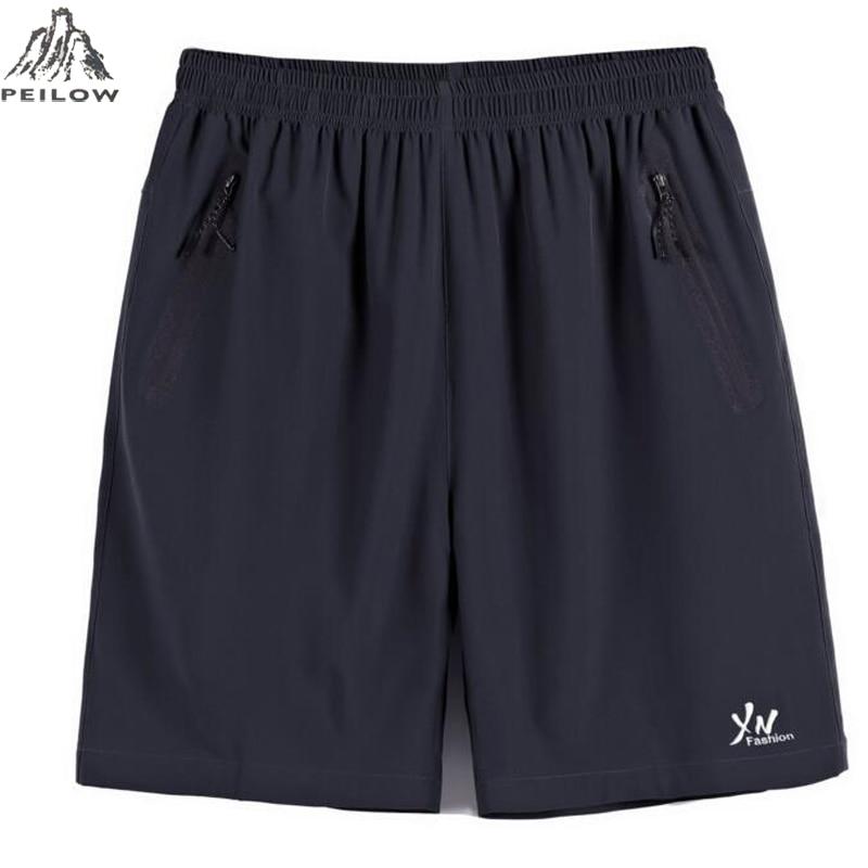 PEILOW Men Elastic Waist Shorts Big Size Men Summer Light Casual Beach Boardshorts Gasp Casual Shorts Men 6xl 7xl 8xl 9xl 10xl