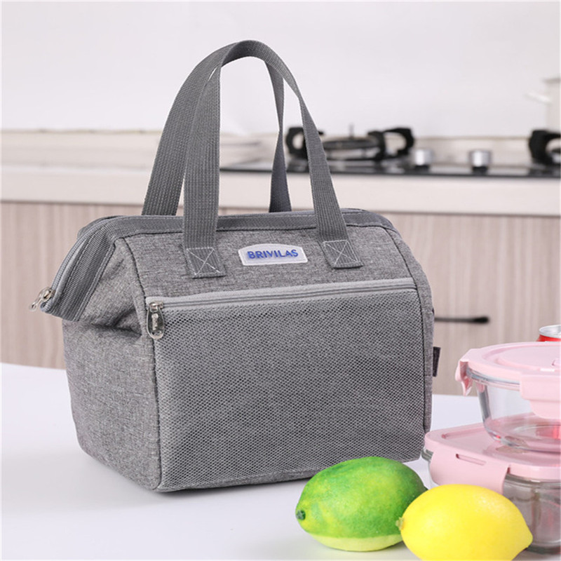 Portable Lunch Bag 2019 New Thermal Insulated Lunch Box Tote Cooler Bag Bento Pouch Lunch Container School Food Storage Bags image