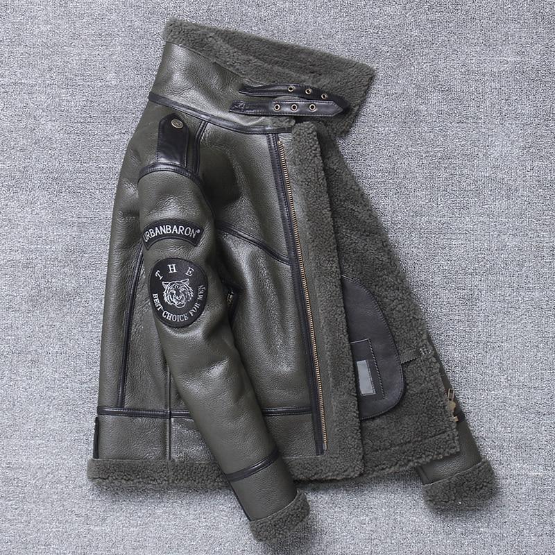 H2349ca3d902042cf9ee0d6d6e6ef5053g Free shipping,Winter natural Sheepskin thick fur coat,classic wool Shearling,warm genuine leather jacket,mens plus size outwear