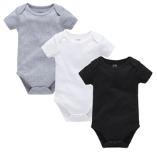 3PCS Baby Bodysuits Blank Cotton Baby Clothes Short Sleeve Summer Newborn Baby Rompers Boys Girls Roupa De bebes Clothing 0-24M summer newborn baby boys girls clothes superman batman spiderman rompers cotton short sleeve vest suit 0 24m kids jumpsuits