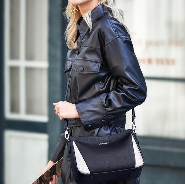 ZOOLER Cow leather Women Crossbody Bag Shoulder Bags Office Black Purse Lady Female Messenger Bag Women Present Gift #lt292