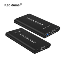 4K 60Hz HDMI Video Capture USB3.0 HDMI to USB Video Capture Card Dongle For Game Streaming Live Stream Broadcast with Mic