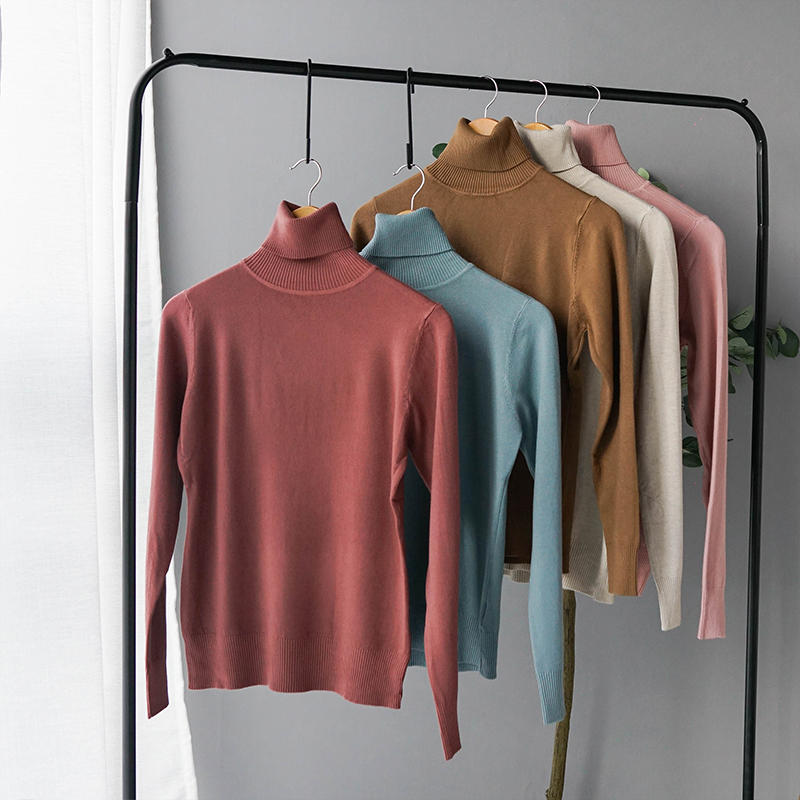 Cashmere Sweater Thin Basic Knitted Sweater Women Turtleneck Pullovers 2019 Autumn Winter Tops Female Jumpers ST001