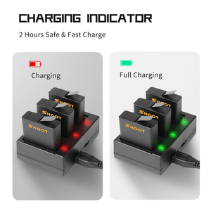 Image 5 - SHOOT Dual / Triple Port Battery Charger with 1220mAh Battery for GoPro Hero 8 7 6 5 Black Camera for GoPro 8 Changing Accessory