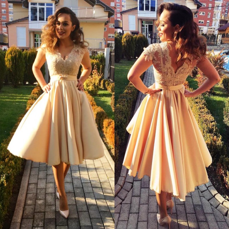 Cocktail Homecoming Dresses Short Prom Evening Formal Dress Long Party Gown 2019 Galajurk Robe De Soiree