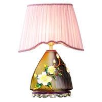 American retro creative enamel living room decoration table lamp romantic warm luxury high end villa bedroom bedside lamp