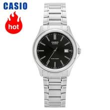 Relógio masculino casio versátil, relógio de metal simples 100% genuíno