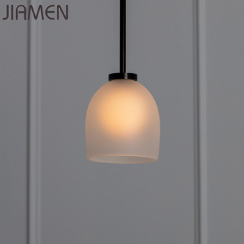 JIAMEN Pendant Lamp Modern Creative Glass Hanging Lights Led 9G Bulb Fixtures Lights Home Living Room Bedroom Industrial Decor