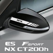 Autocollants de rétroviseur en vinyle, 2 pièces, pour Lexus RX 300 IS 250 GX 400 UX 200 NX LX LS GS ES CT200h Fsport, accessoires automobiles