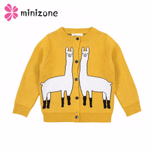 Get more info on the New Baby Girl Knitted Sweater Kids Cardigans Knitwear Boy Clothing Alpaca Printed Cotton Outer Wear Children Casual Boy Sweaters
