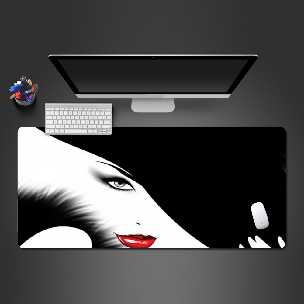 Super Hot New Fashion Girl Mouse Pad High Quality Rubber PC Gaming Computer Keyboard Game Mats To Girlfriend Fashion Gifts image