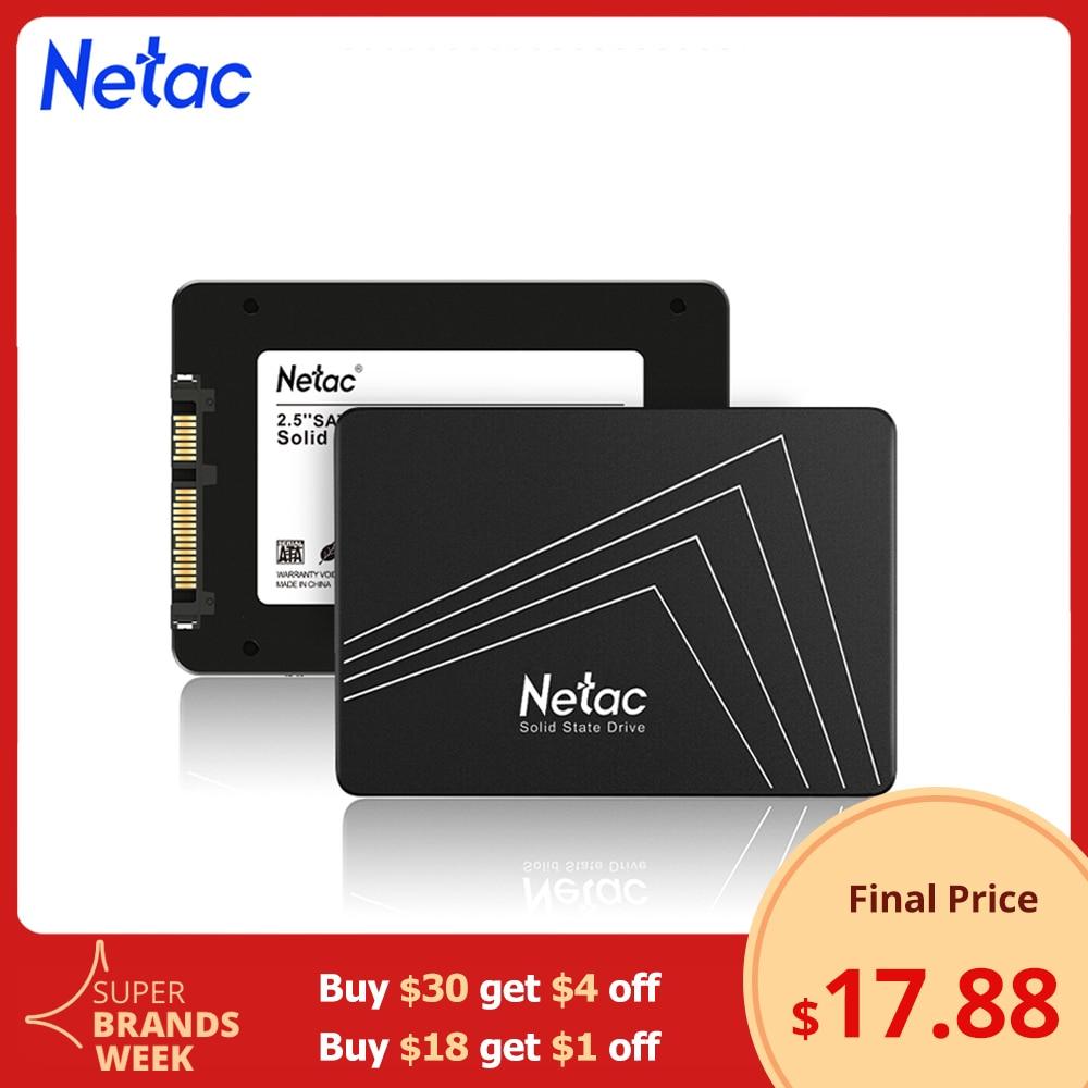 Netac SSD 120 ГБ 240 480 1 ТБ SSD SATA SATAIII 128 ГБ 256 512 2 ТБ SSD HDD 2,5 внутренний жесткий диск твердотельный накопитель для ПК