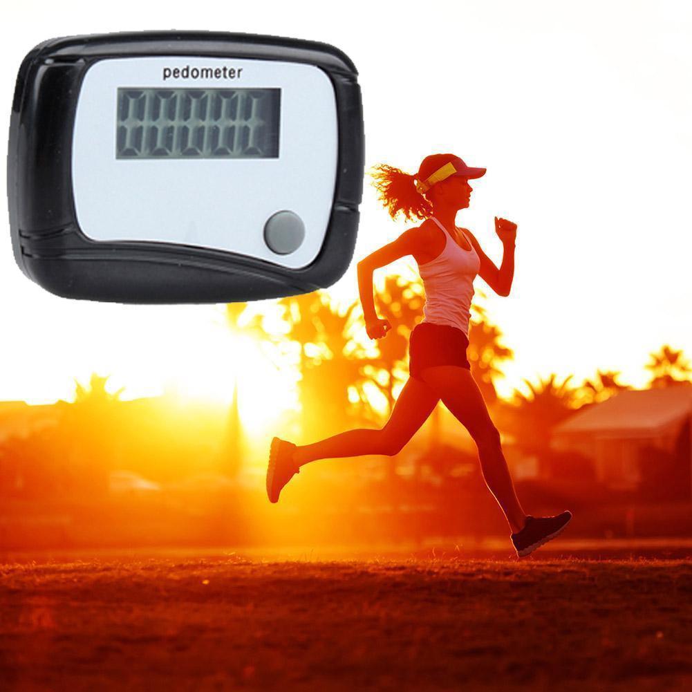 Шагомер с ЖК-экраном, счетчик шагов и калорий, карманный дизайн с клипсой, цифровое расстояние Mini H5N7