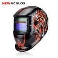 NEWACALOX Tiger Солнечная Автоматическая Затемняющая Сварочная маска MIG MMA сварочный шлем Сварка/Шлифовка/УФ/IR сохранение для сварочного аппарата