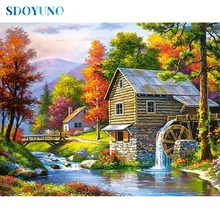 SDOYUNO Full square/round Landscape 5d DIY Diamond Painting rhinestone pictures Mosaic Cross Stitch Diamond embroidery sdoyuno full square round landscape 5d diy diamond painting rhinestone pictures mosaic cross stitch diamond embroidery