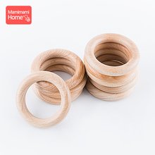 Mamihome 20pc 40mm-70mm Beech Wooden Ring Baby Teether Gym BPA Free Blank DIY Nursing Bracelet ChildrenS Goods