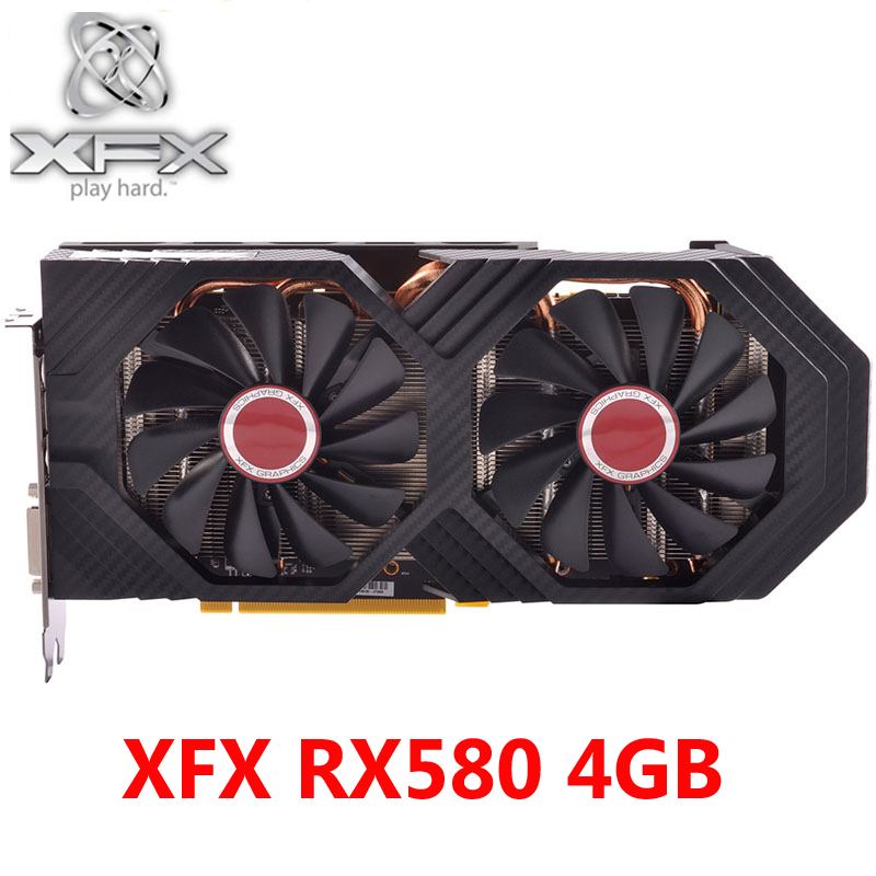 XFX RX 580 4GB Graphics Cards 256Bit GDDR5 Video Cards for AMD RX 500 series VGA RX580 4GB RX 580 8000MHz/8100MHz HDMI DVI Used|Graphics Cards| - AliExpress