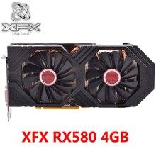 XFX RX 580 4GB grafik kartları 256Bit GDDR5 Video kartları AMD RX 500 serisi VGA RX580 4GB RX 580 8000MHz/8100MHz HDMI DVI kullanılan