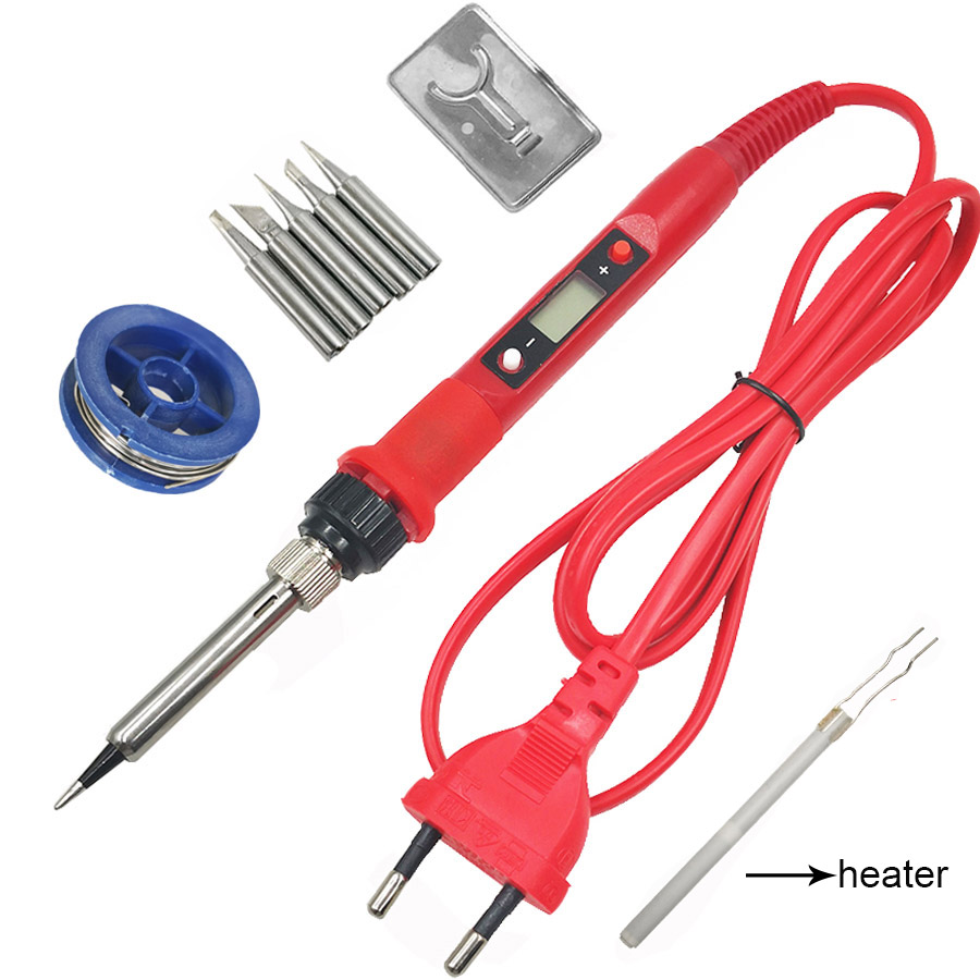 80W digital LCD soldering iron 220V 110v solder iron 908 Temperature Adjustable with sildering iron tips welding tool set