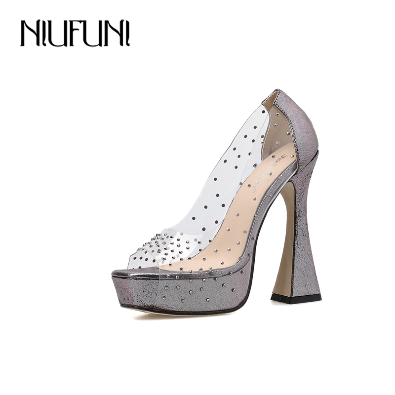 autumn womens block heel ankle strap platform party wedding pumps us 4-10.5 new