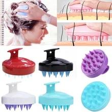 Comb Massage-Brush Shower-Head Scalp-Shampoo Hair Silicone Mini 8-Colors Head-Meridian