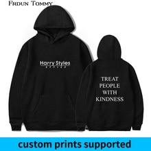 Harry Styles Treat People with Kindness Print Hoodies Sweatshirt Women/men Fashion New Style Streetwear Hooded Casual Clothing