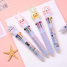 Шариковая ручка yisuremia с милым Кроликом 10 цветов разноцветные