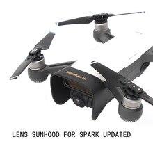 ترقية عدسة هود Sunhood تحديث ظلة حماية كاميرا ذات محورين ل DJI شرارة Panaromic اطلاق النار