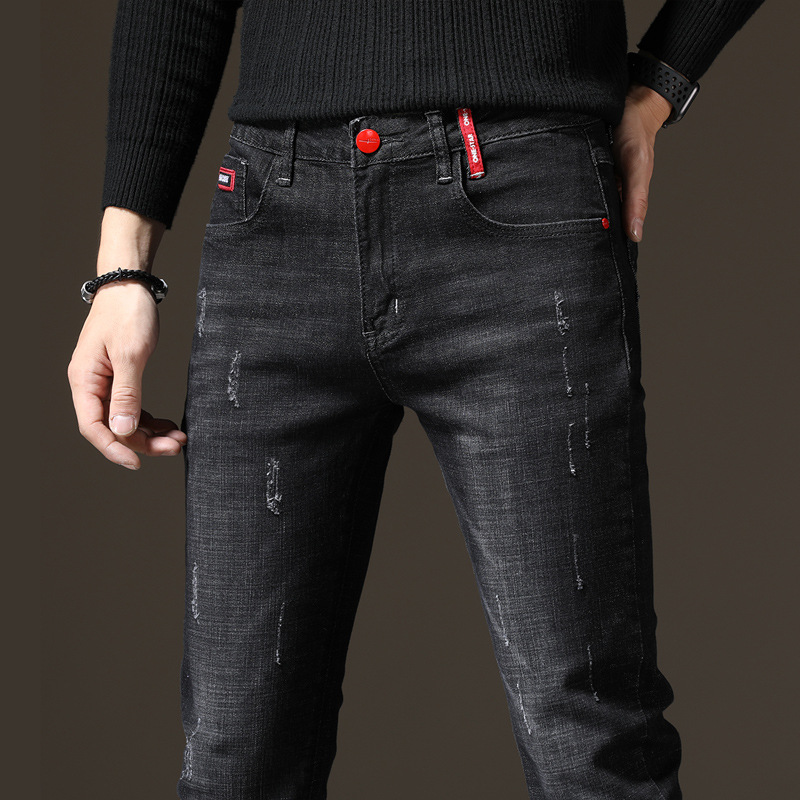 Autumn And Winter Cowboy Main Push Youth MEN'S Trousers Men's Popular Brand Slim Fit Jeans Men Korean-style Students
