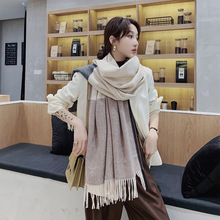 2019 Brand Scarves Women Plaid Solid Cashmere Scarf Tassel Love Pattern Pashmina Gift For Lady Echarpe Cape Shawls And Wraps