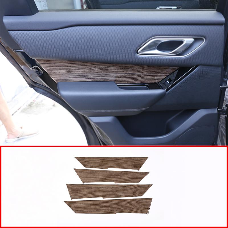 Sands Wood Grain ABS Plastic For Land Rover Range Rover VELAR 2017 2018 2019 2020 Car Interior Door Handle Panel Cover Trim 4pcs