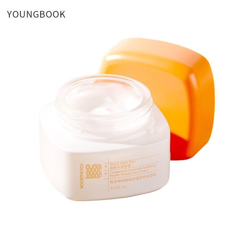 YOUNGBOOK yatıştırıcı onarım yüz kremi gençleştirici cilt bakım kalıcı nemlendirici bileşik Ceramide yüz kremi 50g